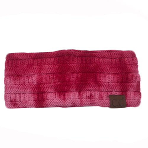 HW-821 Red/Pink Tie Dye Headband