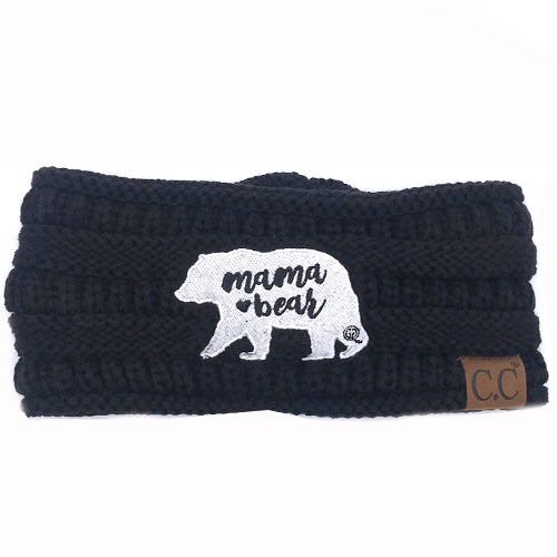 HW-20 Mama Bear Headwrap Black