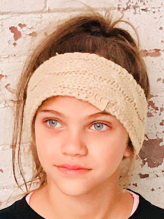 HW-20-KIDS BEIGE HEADWRAP