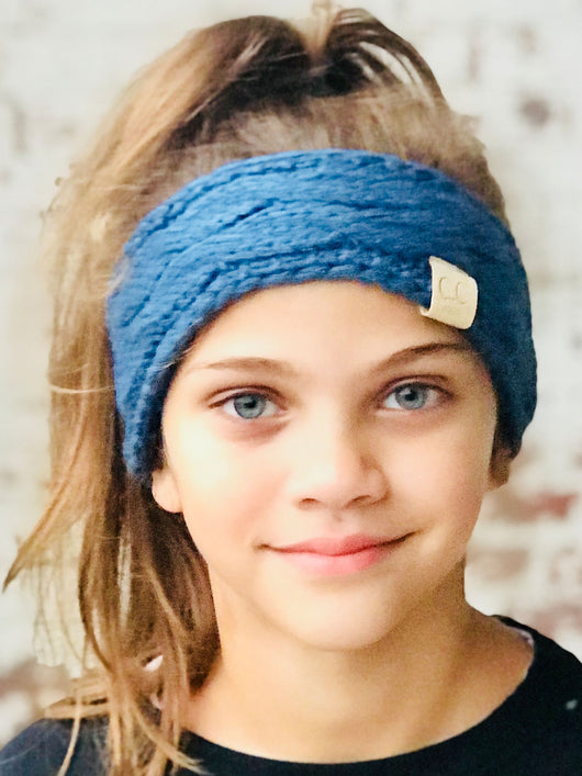 HW-20-KIDS DARK DENIM HEADWRAP
