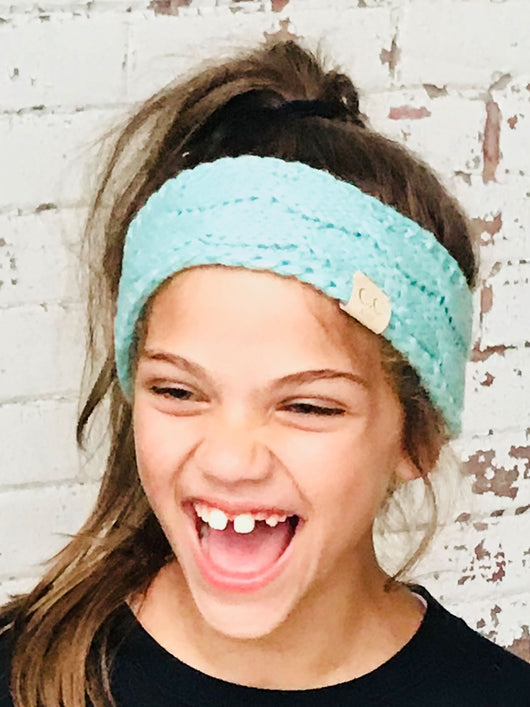 HW-20-KIDS MINT HEADWRAP