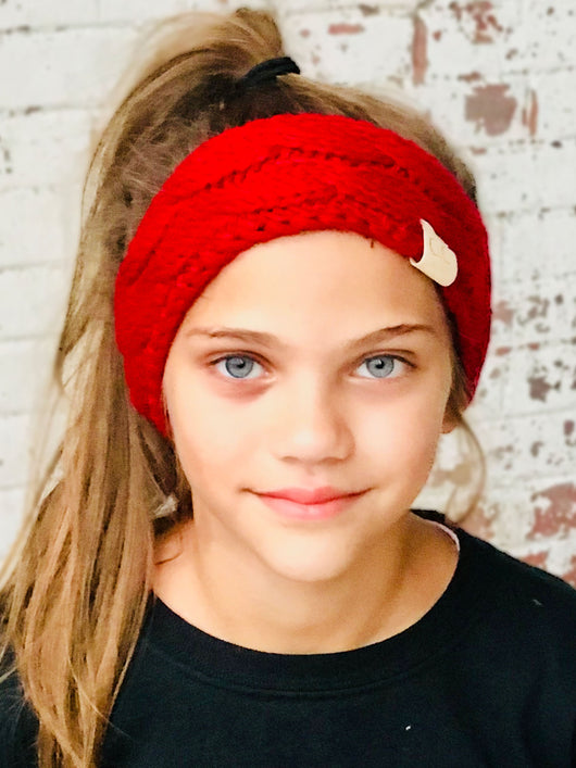 HW-20-KIDS RED HEADWRAP
