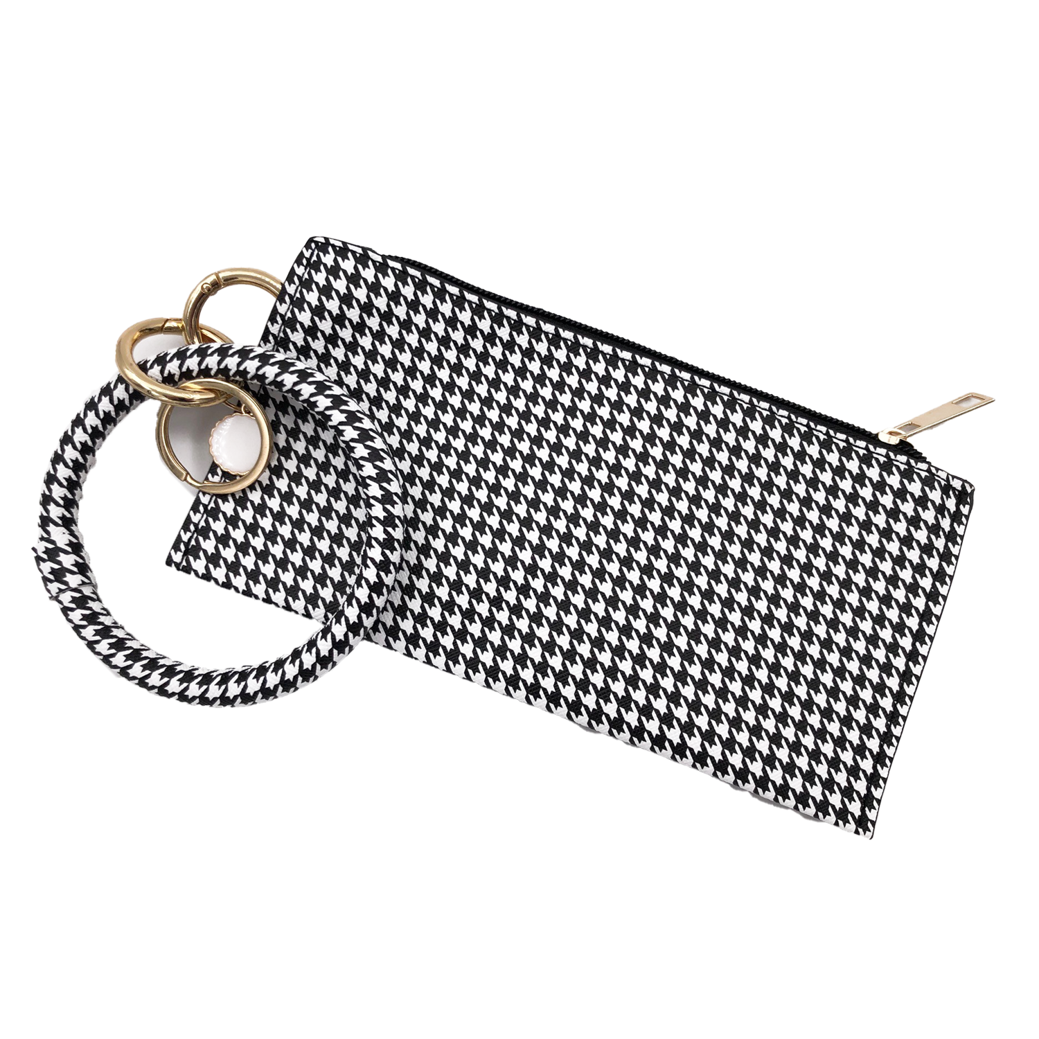 CL-8848 Wristlet Clutch Houndstooth