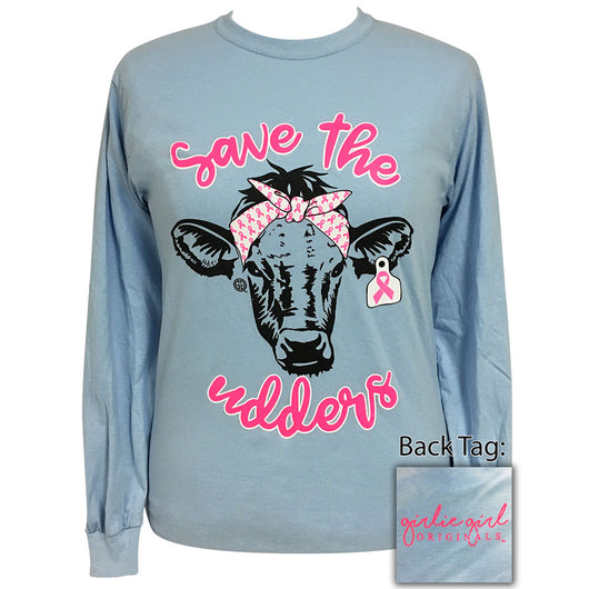 Save The Udders Light Blue Long Sleeve
