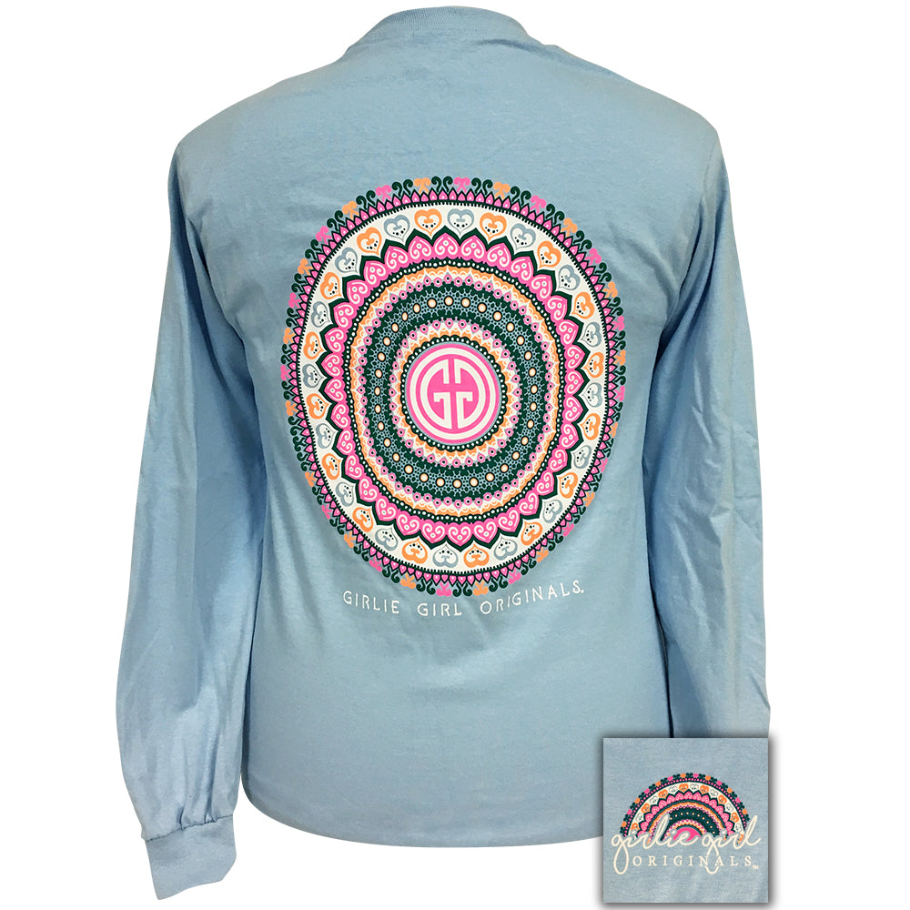 Mandala Light Blue Long Sleeve