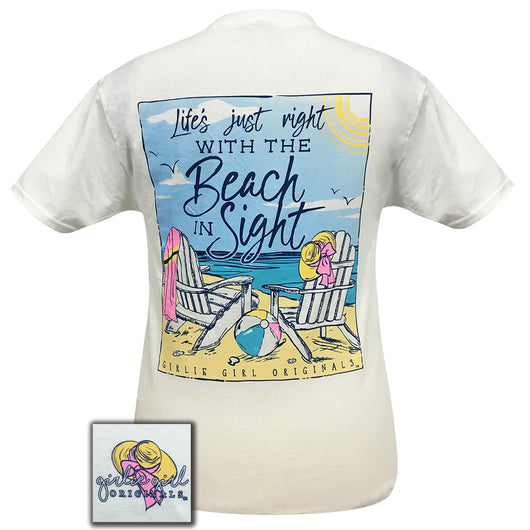 Beach In Sight White Short Sleeve