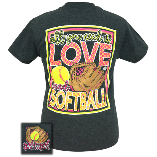 All You Need Softball Dark Heather Short Sleeve