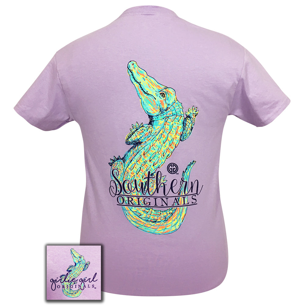 Watercolor Alligator Orchid Short Sleeve