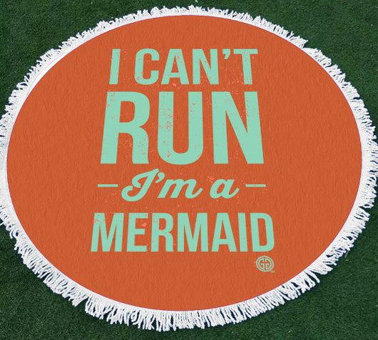 Beach Towel-I Can't Run