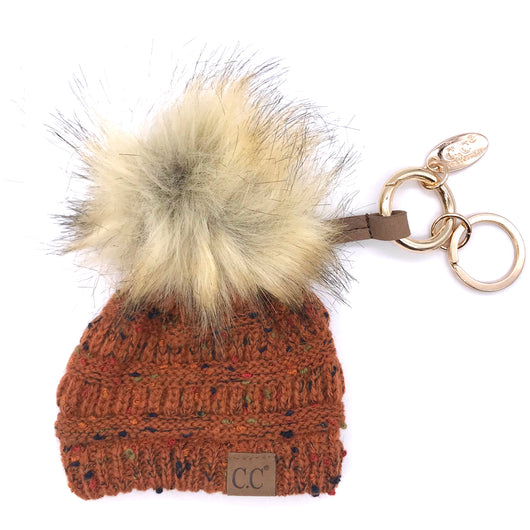 KB-33 Rust Speckled Beanie Keychain