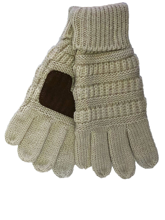 G-20-KIDS BEIGE GLOVES