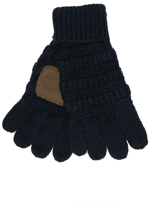 G-20-KIDS BLACK GLOVES