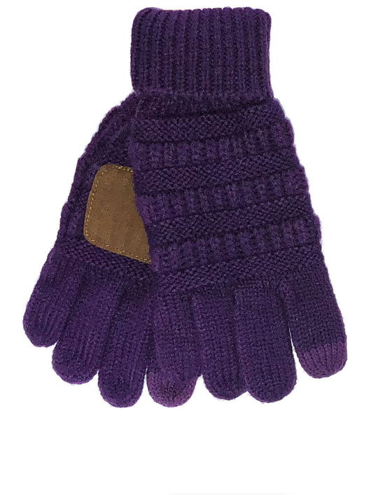 G-20-KIDS DARK PURPLE GLOVES