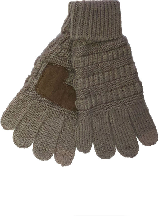 G-20-KIDS TAUPE GLOVES