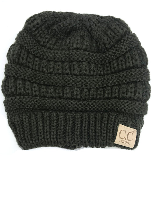 YJ-847 New Olive Kid Beanie
