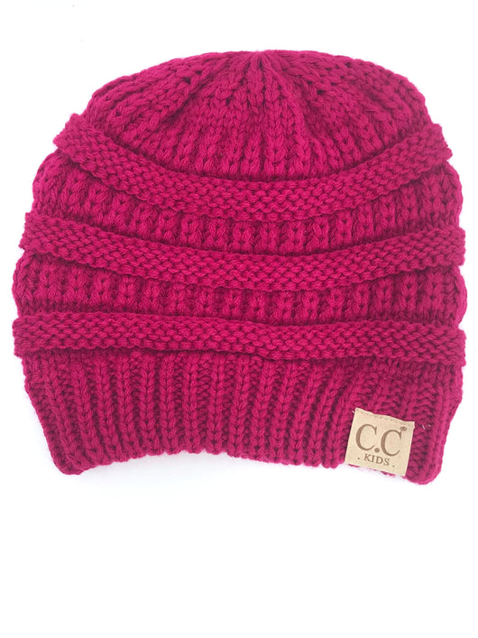 YJ847 Hot Pink Kid Beanie