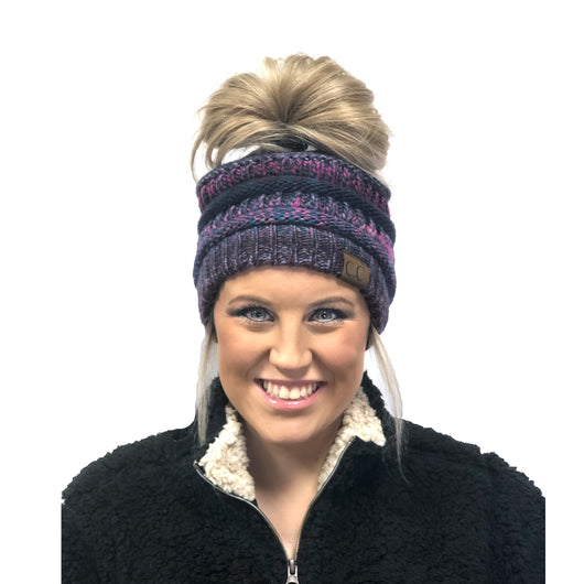 MB-705 BEANIE PURPLE MIX