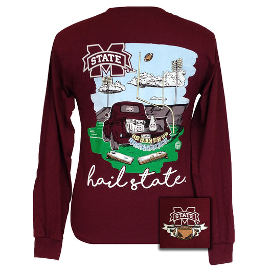 Tailgates and Touchdowns MSU Maroon Long Sleeve