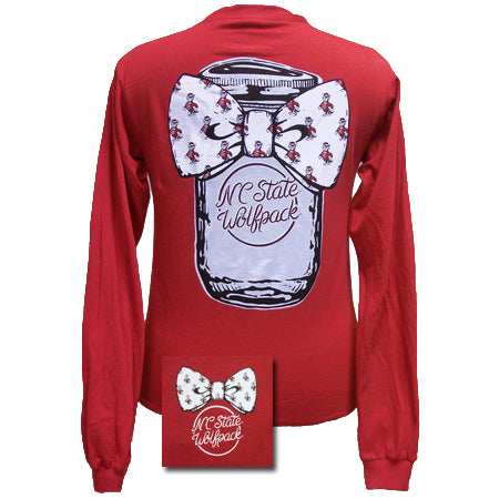NCST Mason Jar Bowtie Red long sleeve