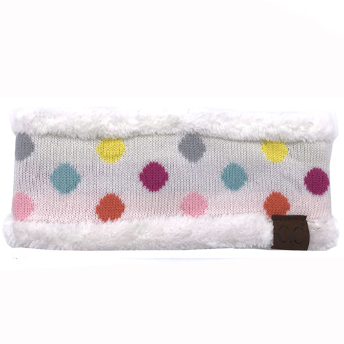PD-HW-22 MULTI IVORY DOT HEADWRAP