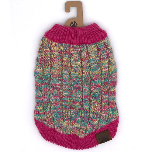 C.C Pet Sweaters Pet-3 Hot Pink