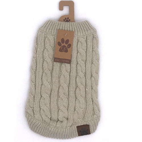 C.C Pet Sweaters Pet-4 Beige
