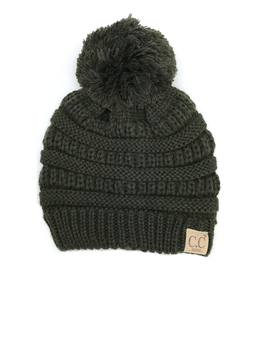 YJ-847 POM New Olive Kid Beanie