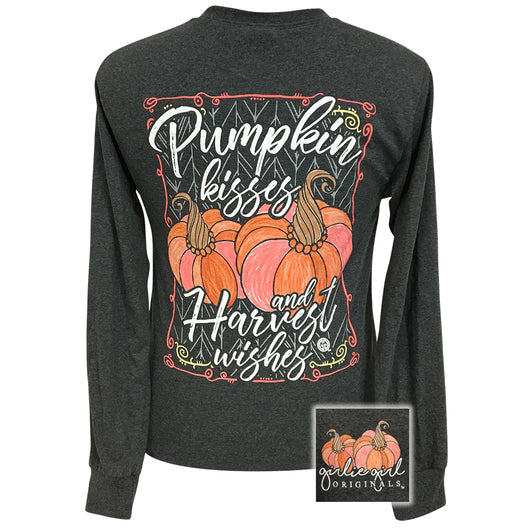 Pumpkin Kisses Black Heather Long Sleeve