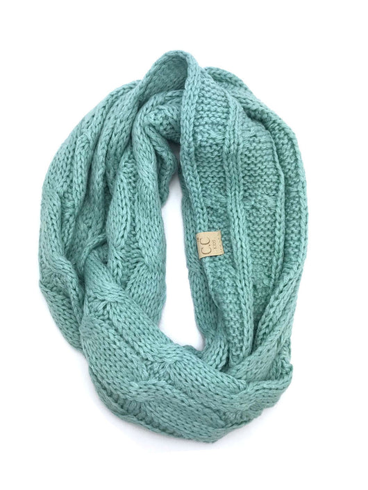 SF-800-KIDS-MINT INFINITY SCARF