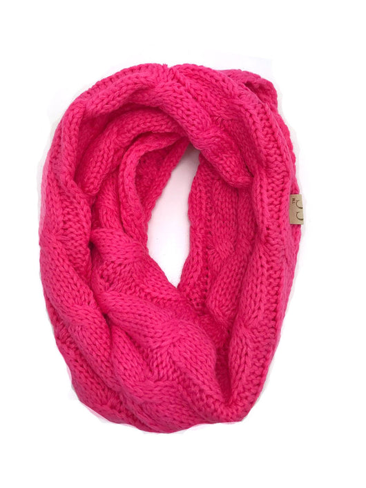 SF-800-KIDS-NEW CANDY PINK INFINITY SCARF