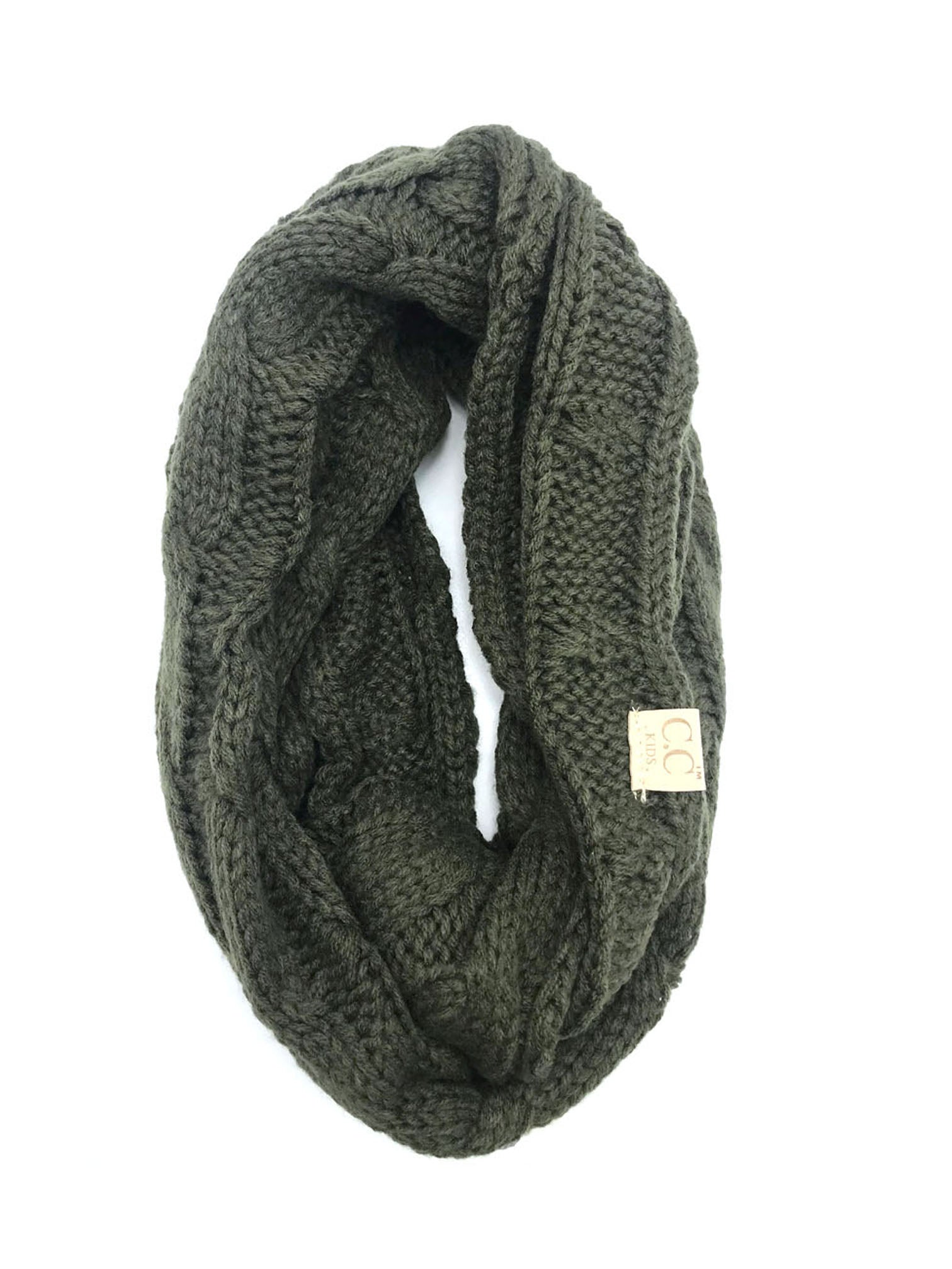 SF-800-KIDS-NEW OLIVE INFINITY SCARF