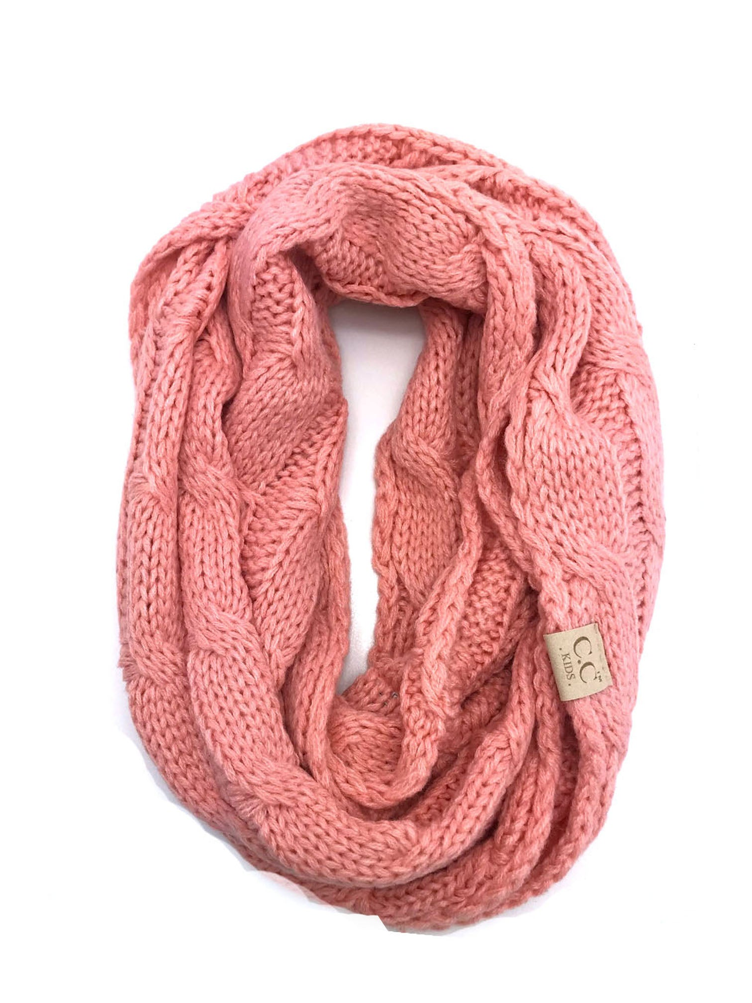SF-800-KIDS-PEACH INFINITY SCARF