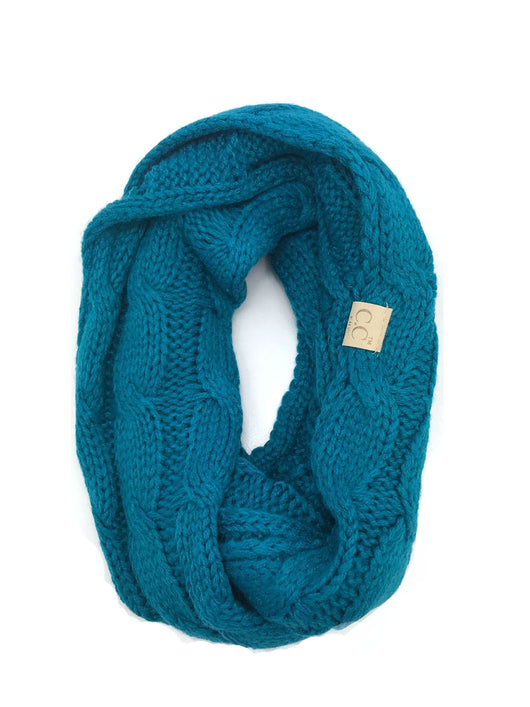 SF-800-KIDS-TEAL INFINITY SCARF