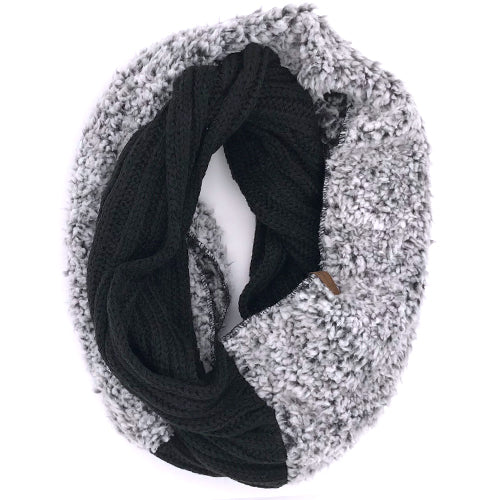 SF-88 Sherpa Infinity Scarf Black Heather