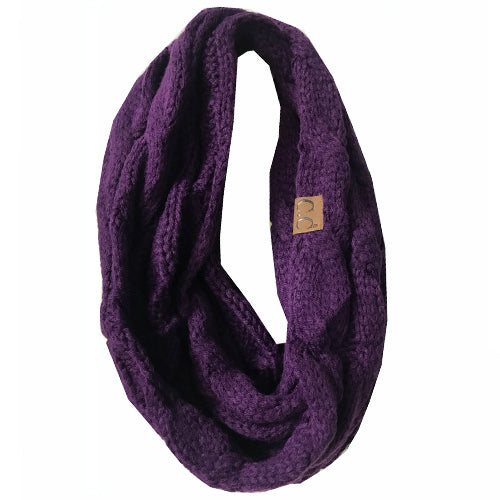 SF-800 DARK PURPLE Infinity Scarf
