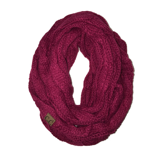 SF-800 Hot Pink Infinity Scarf