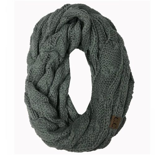 SF-800 Natural Grey Infinity Scarf