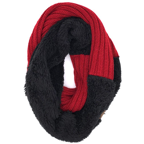 SF-88 Sherpa Infinity Scarf Red Black