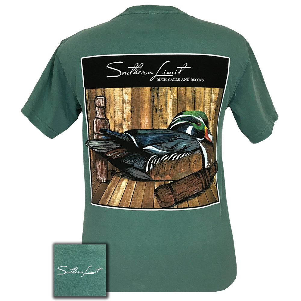 Southern Limit Duck and Decoys Light Green Comfort Color