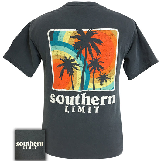 Southern Limit Palm Trees Short Sleeve Comfort Color