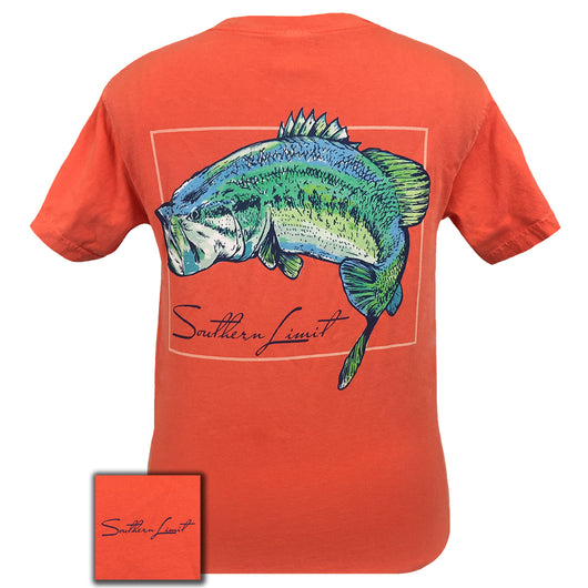Southern Limit Watercolor Bass Comfort Color Bright Salmon