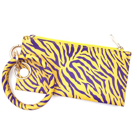 CL-8848 Wristlet Tiger Purple Yellow
