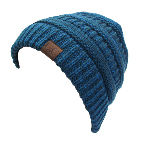 YJ-800 18 BLUE-TEAL TWO-TONE BEANIE