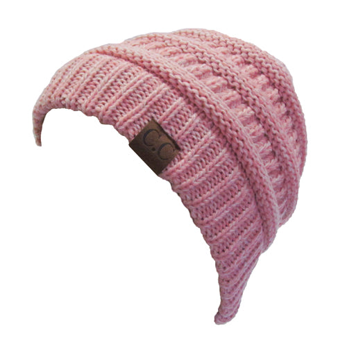YJ-800 02 ROSE TWO-TONE BEANIE