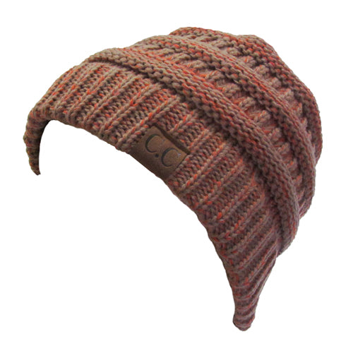 YJ-800 04 BURNT ORANGE TWO-TONE BEANIE