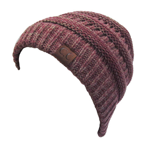 YJ-800 09 RASPBERRY TWO-TONE BEANIE