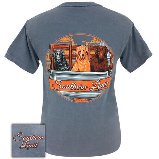 Southern Limit Truck Dogs Blue Jean Comfort Color Short Sleeve