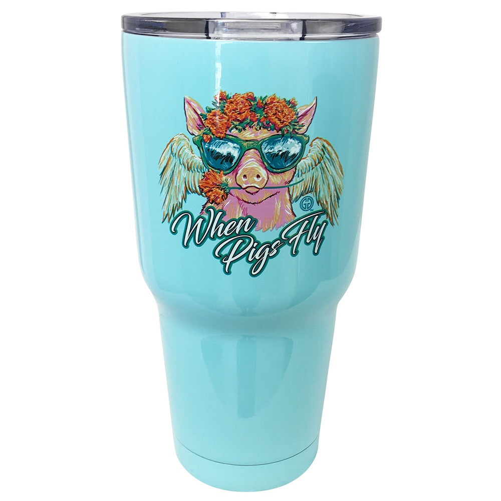 TB2468 When Pigs Fly Stainless Steel Tumbler