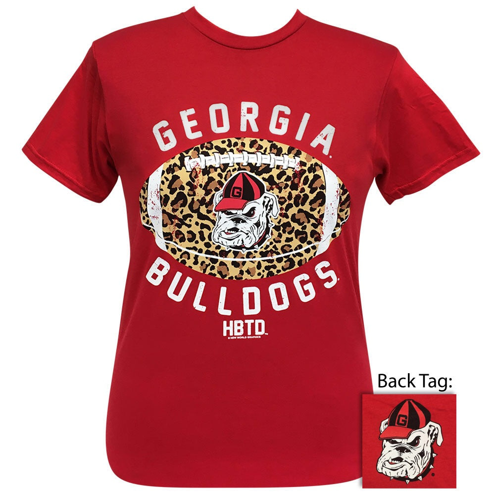Georgia Leopard Football Red Short Sleeve