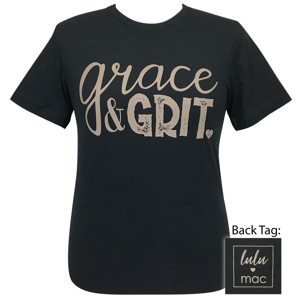 lulu mac 41-Grace and Grit Black Heather Short Sleeve